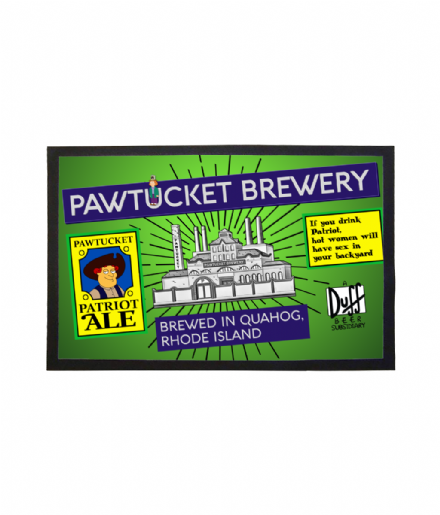 Pawtucket Brewery Patriot Ale Welcome Mat Doormat Inspired by TV Show Family Guy